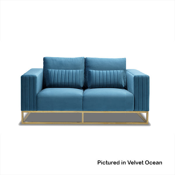 Somerset Velvet 2 Seater Sofa