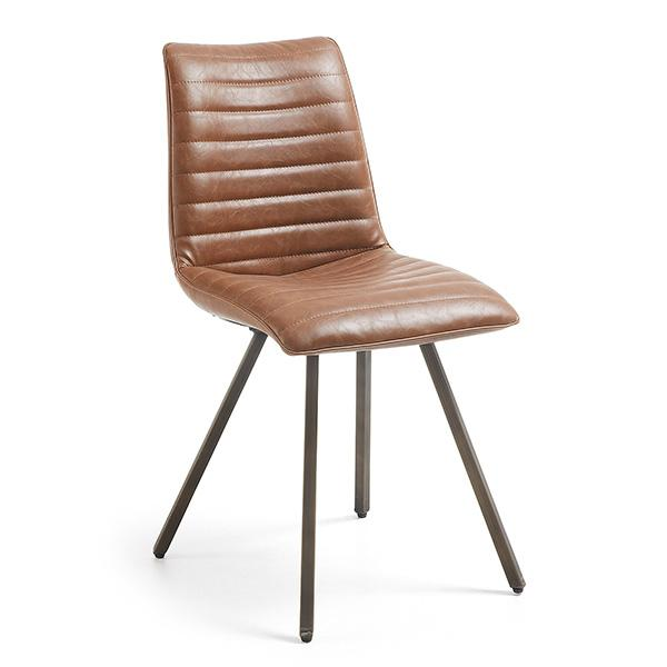 Toledo Dining Chair - Saddle Synthetic Leather
