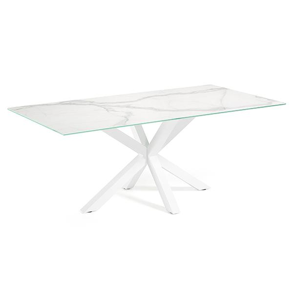 Verona Dining Table - White Base with Kalos Bianco Ceramic Top