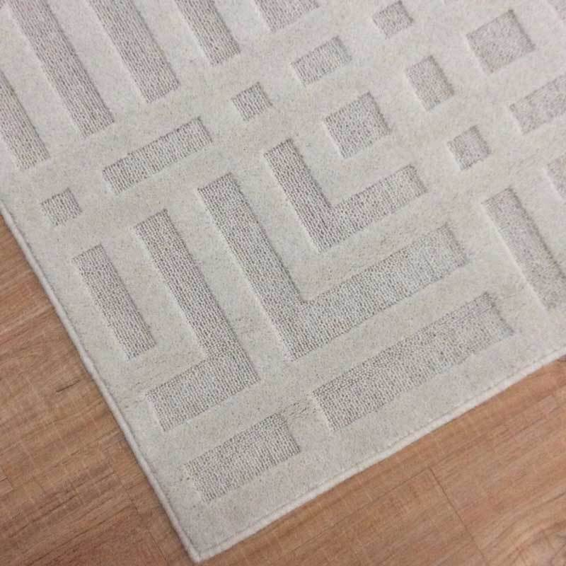 Macau Luxury Floor Rug Cream Geometric Pattern