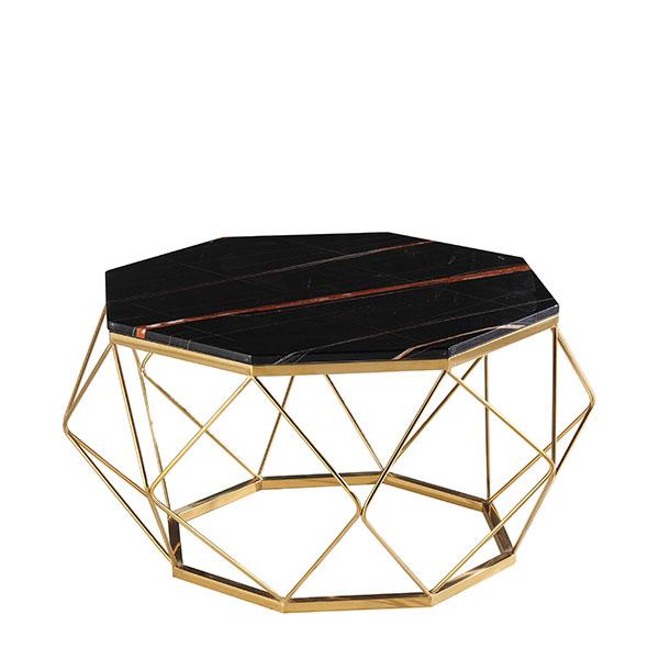 Paramount Black Marble Coffee Table
