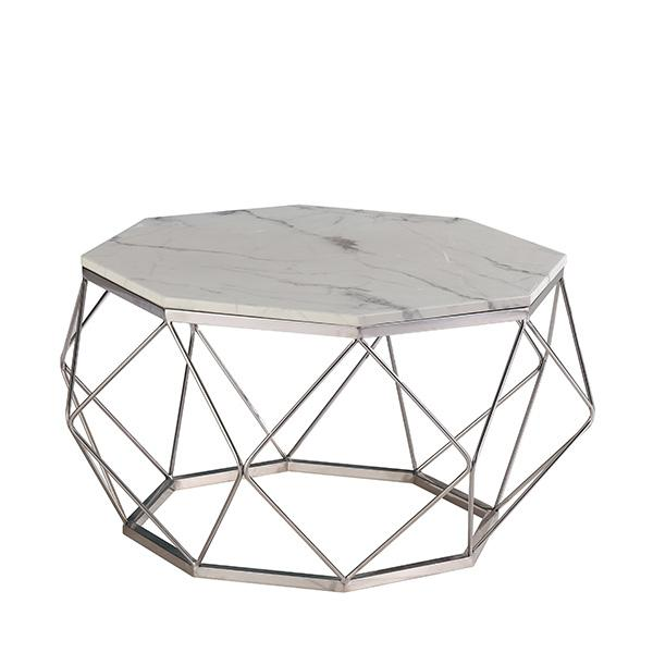 Paramount Carrara Marble Coffee Table