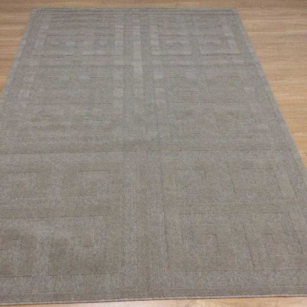Peak Luxury Floor Rug Taupe Geometric Pattern