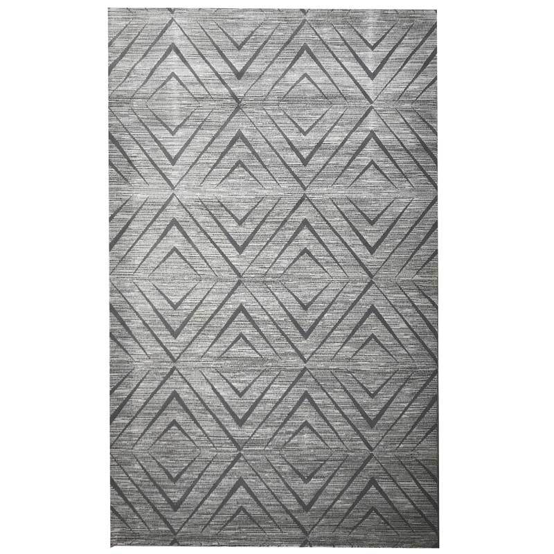 Vegas Luxury Floor Rug Grey Diamond Pattern