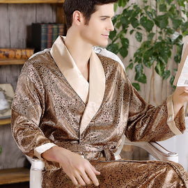 Bathrobe Mens Plus Size Silk