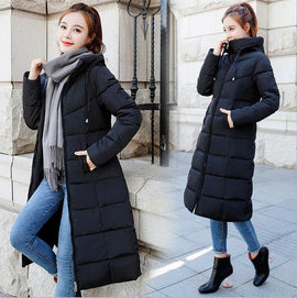 Down jackets Fashion Women Winter Coat Long Slim Thicken Warm Jacket Down Cotton Padded Jacket Outwear Parkas