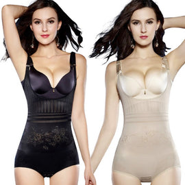 Women Slimming Underwear Shaper Recover Bodysuits Shapewear Waist Corset Girdle Black/Apricot Hot sale