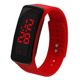 Fashion Men Women Casual Sports Bracelet Watches LED Electronic Digital Candy Color Silicone Watch