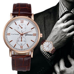 Top Brand Luxury Watches Men Geneva Stainless Steel Ultra Thin Watches Men Classic Quartz Men's Wrist Watch Masculine