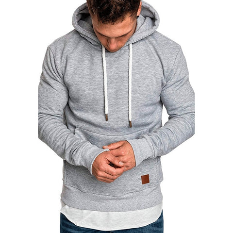 NEW hoodies brand male long sleeve solid hoodie