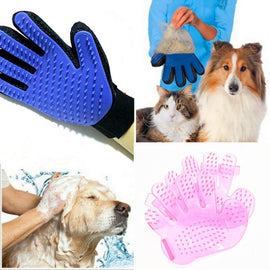 Pink&blue quality Pet Brush Glove Dog Bath Pet Cleaning Supplies Pet Silicone Glove Combs