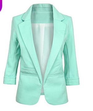 Candy color seven-point sleeves  small suit commuter models slim women blazers