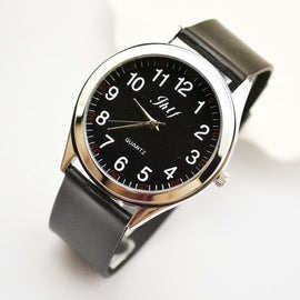 New fashion, simplified Korean version, genuine leather belt watch, male and female fashion quart