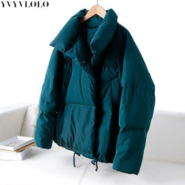 Autumn Winter Jacket Women Coat Fashion Female Stand Winter Jacket Women Parka Warm Casual  Plus Size Overcoat