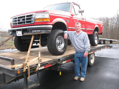 Al S. from Burke Virginia has his new single cab he purchased from Handpicked Trucks loaded up.