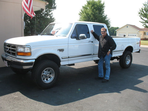 Hermen with his F350 OBS Ford he purchased from Handpicked Trucks.