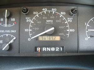 1995 Ford F250 Regular Cab Long Bed Diesel Truck Grey Interior Odometer