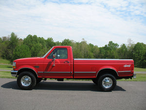 1995 Ford F250 Regular Cab Long Bed Diesel Truck Red Driver
