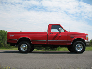 1995 Ford F250 Regular Cab Long Bed Diesel Truck Red Passenger