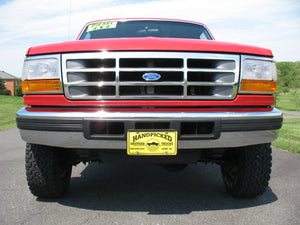 1995 Ford F250 Regular Cab Long Bed Diesel Truck Red Front