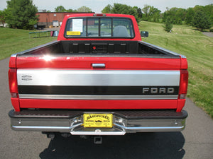 1995 Ford F250 Regular Cab Long Bed Diesel Truck Red Rear