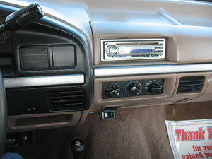 1995 Ford F250 Regular Cab (Straight Axle) Diesel Truck Tan Interior Dash