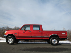 1997 Ford F250 Crew Cab Short Bed Diesel Truck Toreador Red Driver Side