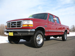 1997 Ford F250 Crew Cab Short Bed Diesel Truck Toreador Red Front Left Corner