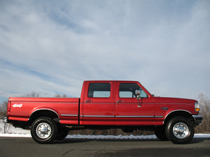 1997 Ford F250 Crew Cab Short Bed Diesel Truck Toreador Red Passenger