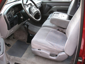 1997 Ford F250 Crew Cab Short Bed Diesel Truck Grey Interior Driver Seat