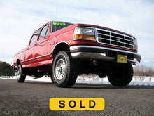 Load image into Gallery viewer, 1997 Ford F250 Crew Cab Short Bed Diesel Truck Toreador Red Front Right Corner