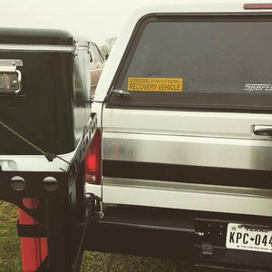 Handpicked Trucks 6.0 Recovery Bumper Sticker on the back of 1995 F350 7.3L Power Stroke