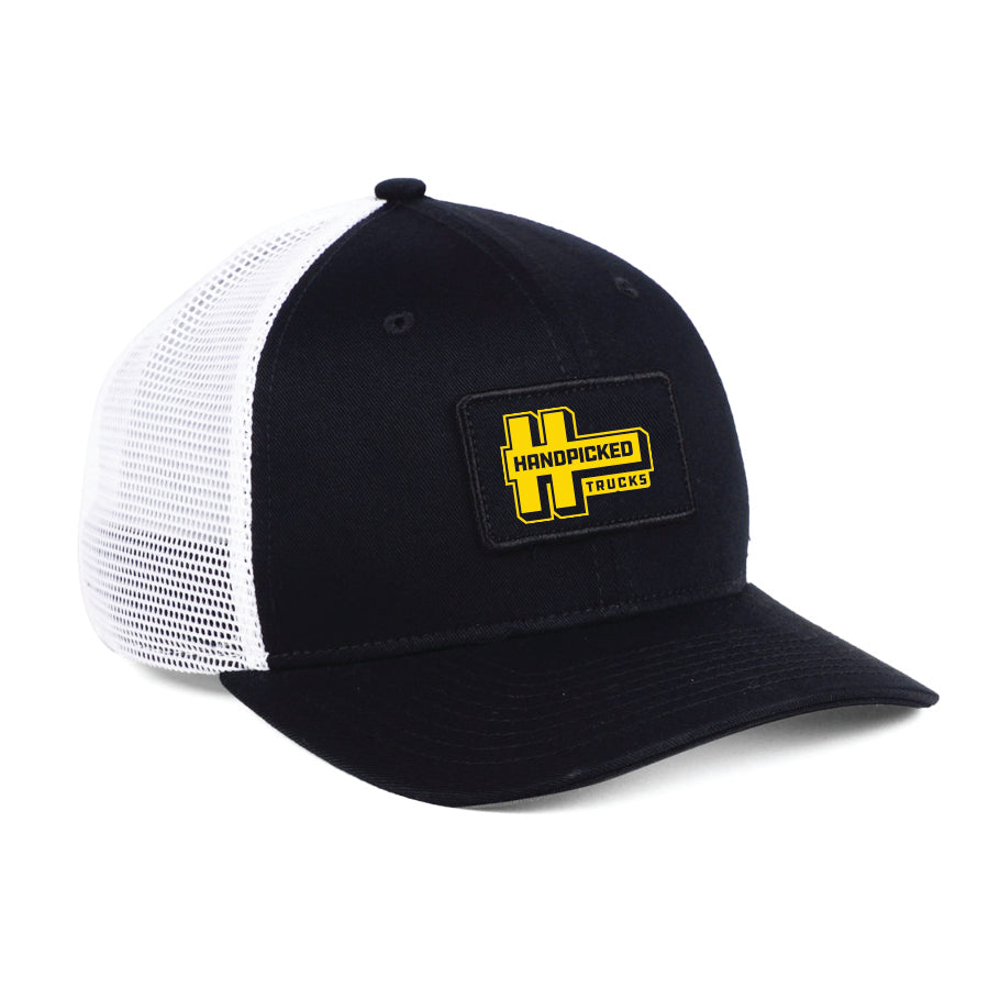 Handpicked Trucks Embroidered Patch Mesh Hat | Black Front / White Mesh
