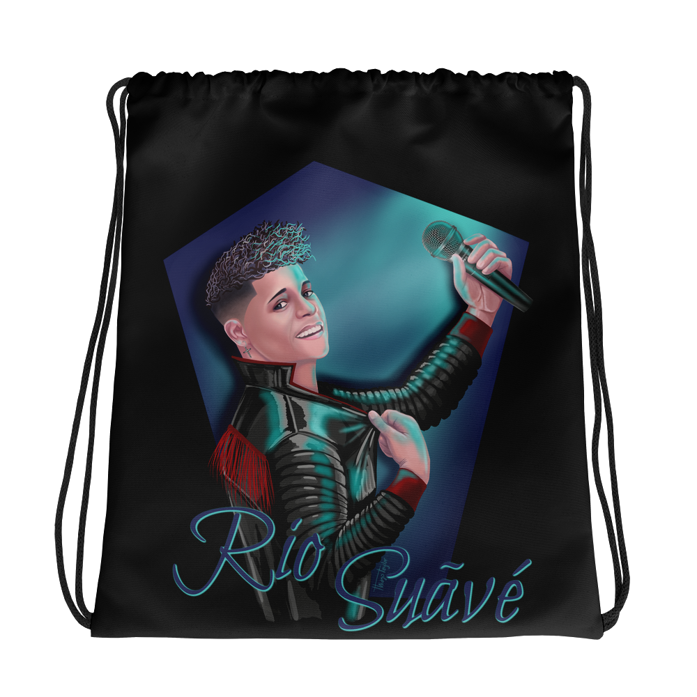Rio Suave - Black Drawstring bag