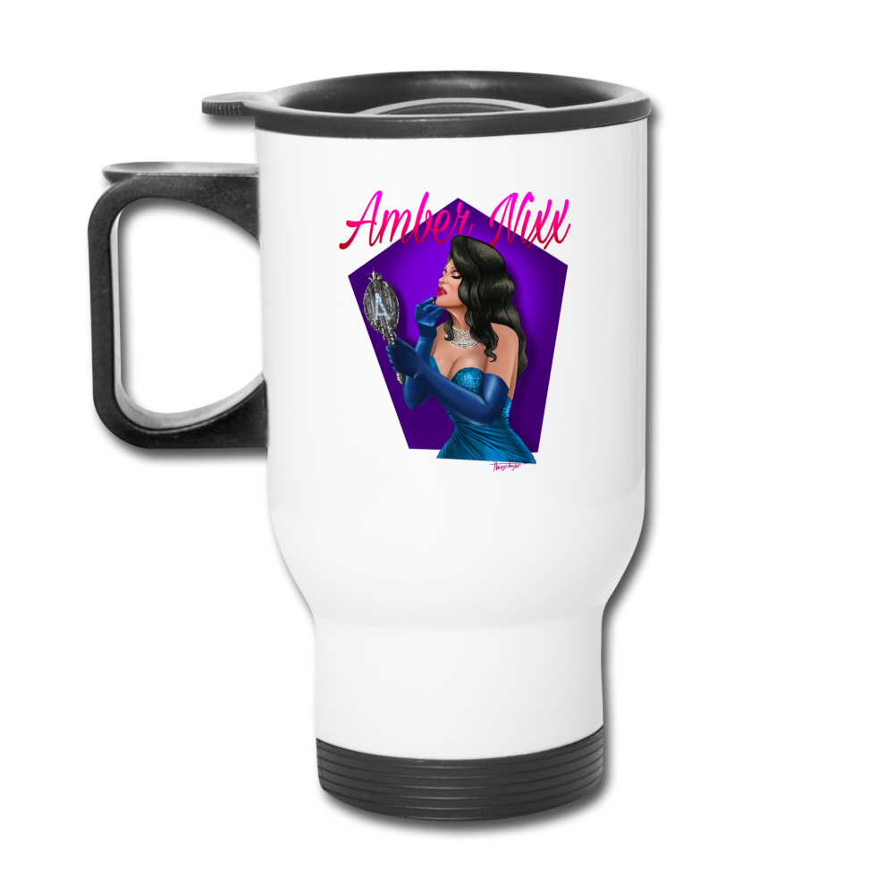 Amber Nixx - Travel Mug - white