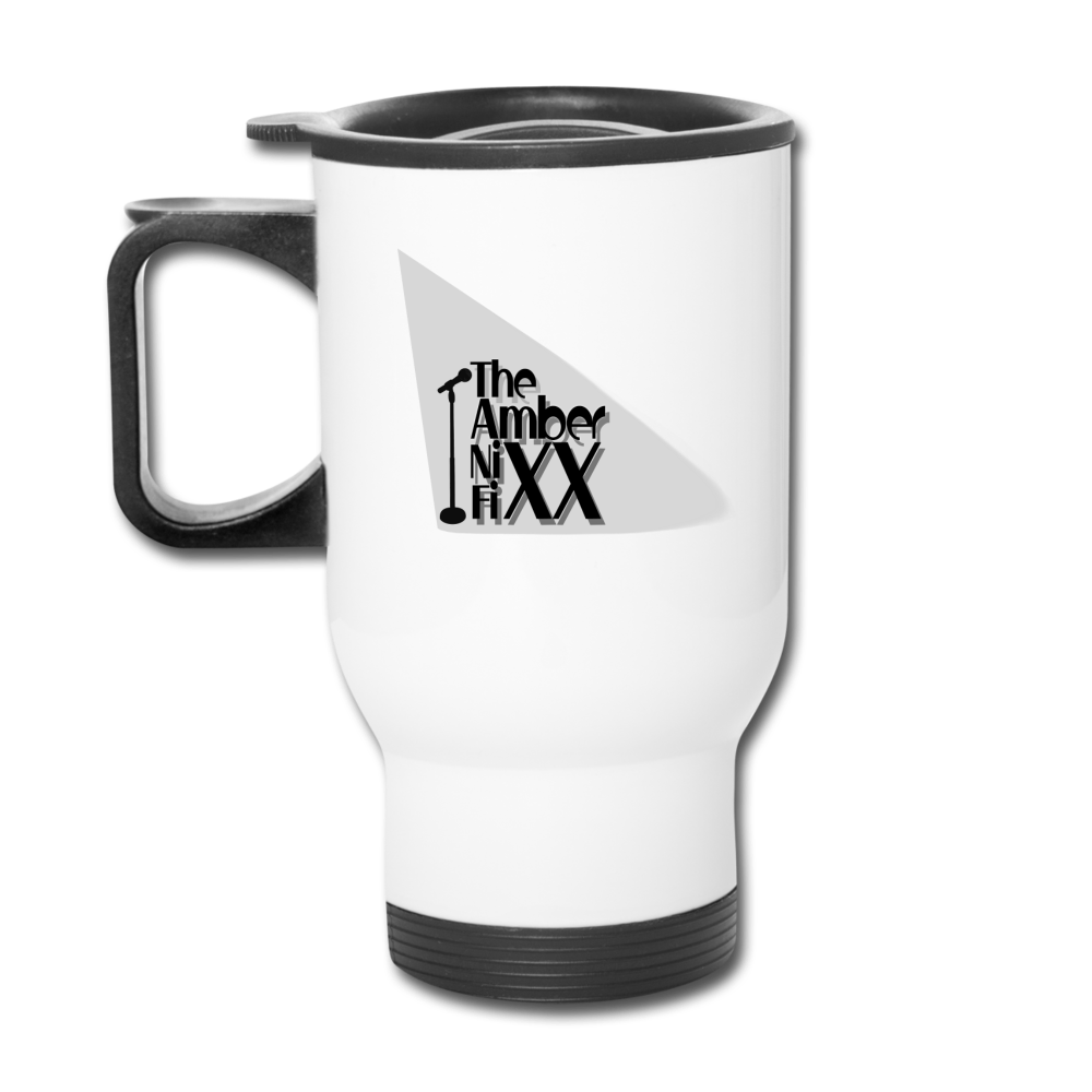 The Amber Nixx Fixx - Travel Mug - white