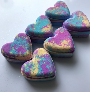 Candyland Love Heart Bath Bomb