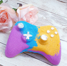 Load image into Gallery viewer, Rainbow Controller Bath Bomb