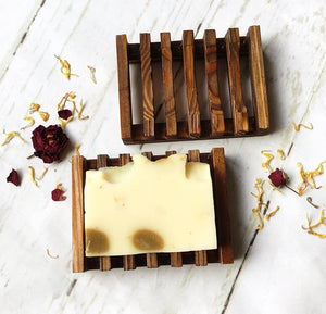 Dark Brown Bamboo Soap Dish