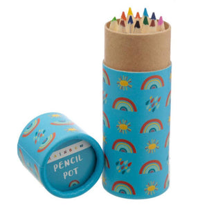 Pencil Pot with Colouring Pencils