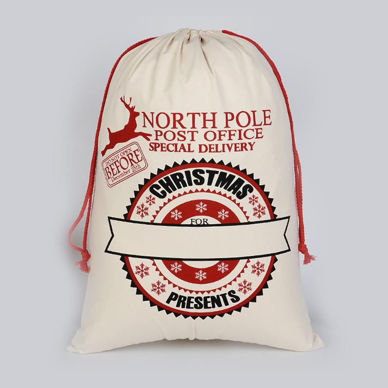 Personalised Santa Sack - Drawstring Sacks
