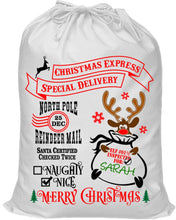 Load image into Gallery viewer, Personalised Santa Sack - Drawstring Sacks
