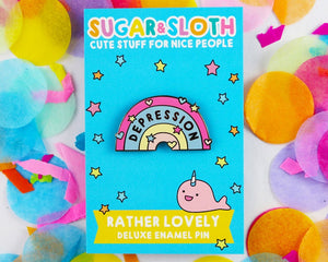 Sugar & Sloth Enamel Pins