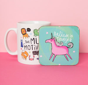 Believe In Yourself Coaster - Katie Abey - 1 Coaster
