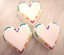 Load image into Gallery viewer, Rainbow Heart Bath Bombs