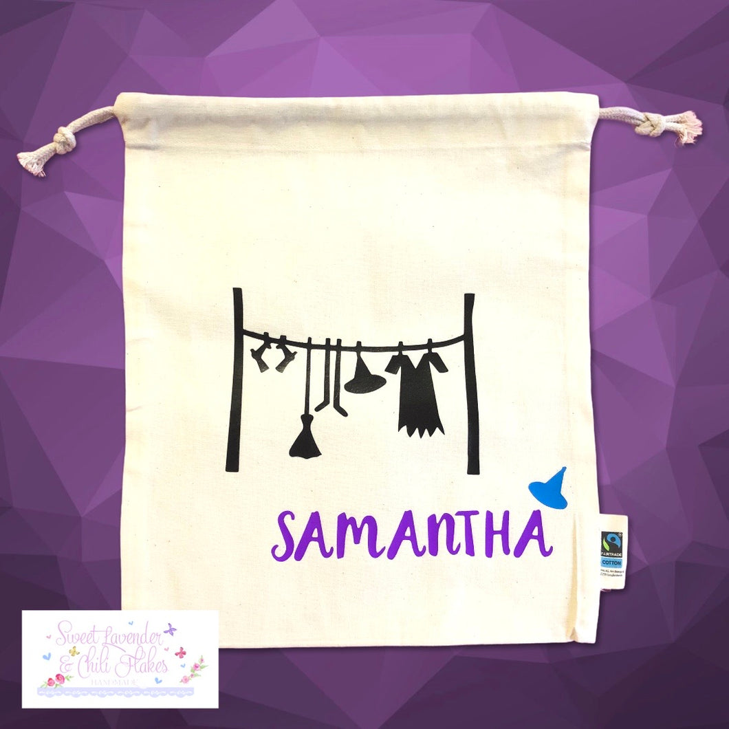 Samantha Tie String Maxi Bag * Maxi Drawstring Sacks - Witches Collection