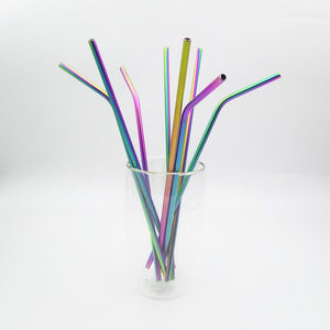 Rainbow Metal Drinking Straws
