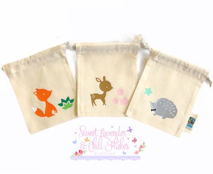 Woodland Design Organic Tie String Mini Bag * Mini Drawstring Sacks