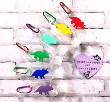 Load image into Gallery viewer, Dino Hand Sanitiser Bottle Keyring - 50ml