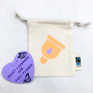 Cup Design Organic Tie String Mini Bag * Mini Drawstring Sacks